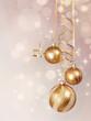 Golden  baubles hanging