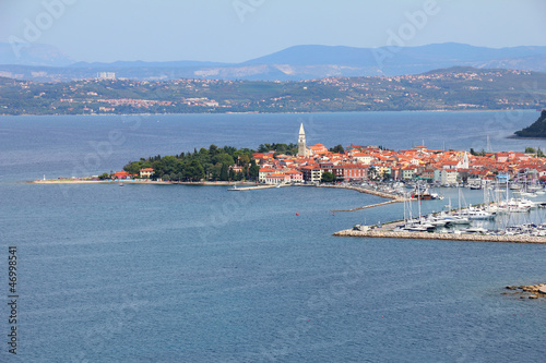 Izola city and Adriatic sea