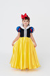 Pretty girl wearing Snow White fancy dress