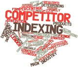Word cloud for Competitor indexing poster
