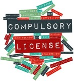 Word cloud for Compulsory license