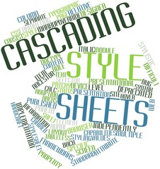 Word cloud for Cascading Style Sheets