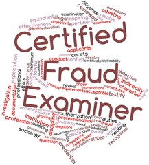 Word cloud for Certified Fraud Examiner