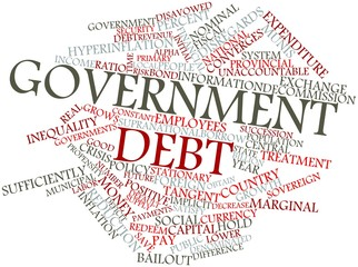 Word cloud for Government debt