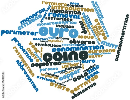 Word cloud for Euro coins
