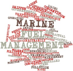 Word cloud for Marine fuel management