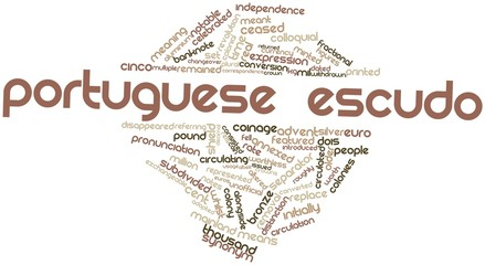 Word cloud for Portuguese escudo