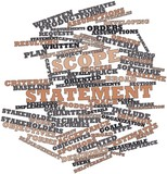 Word cloud for Scope statement