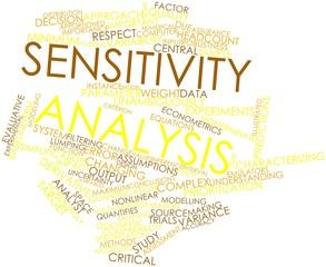 Word cloud for Sensitivity analysis