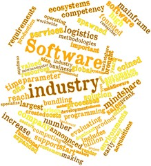 Word cloud for Software industry