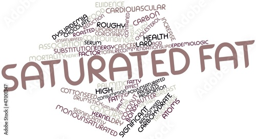 Word cloud for Saturated fat