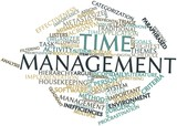 Word cloud for Time management