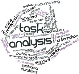 Word cloud for Task analysis
