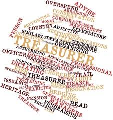 Word cloud for Treasurer