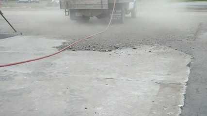 Blowing Dirt with Airhose
