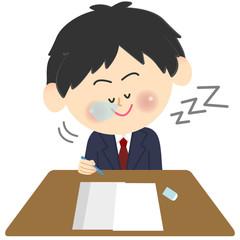 ブレザーの学生 テスト 居眠り