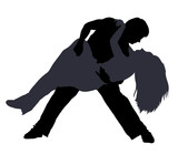 Break dancers silhouettes