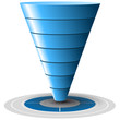 Conversion or sales funnel easily customizable, vector