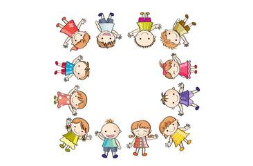 笑顔の子供たち(四角)
