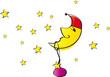 Mond mit roter Mütze - Weihnachten