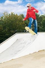 Granny on a skateboard