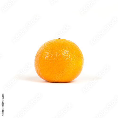 Mandarin on white