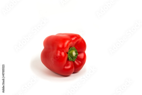 Red Paprika On White