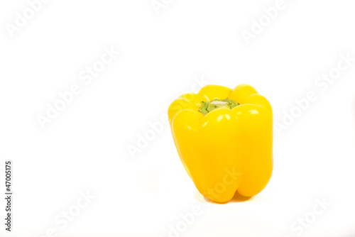 Yellow Paprika On White