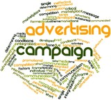 Word cloud for Advertising campaign poster