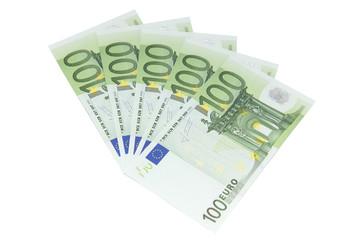 Einhundert Euro Geldscheine - Freisteller