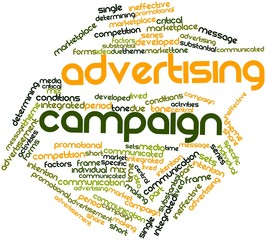 Word cloud for Advertising campaign