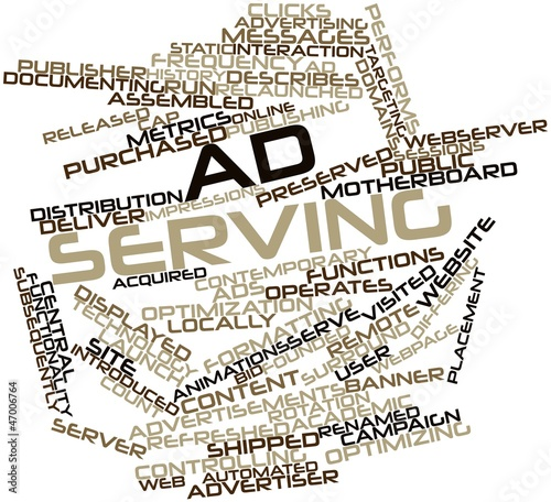 Word cloud for Ad serving