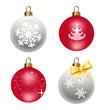 Boules de Noël - Fête - flocon