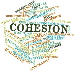 Word cloud for Cohesion