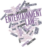 Word cloud for Entertainment law