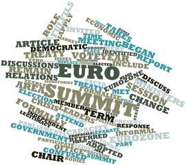 Word cloud for Euro summit