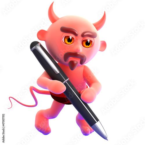 Devil writes a letter for you