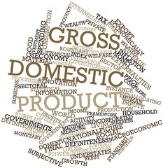 Word cloud for Gross domestic product