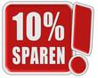 !-Schild rot quad 10% SPAREN