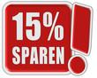 !-Schild rot quad 15% SPAREN
