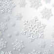 Contemporary Christmas snowflakes pattern