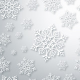 Fototapety Contemporary Christmas snowflakes pattern
