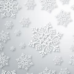 Contemporary Christmas snowflakes pattern