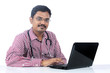 Indian Doctor With Laptop