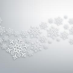 White Christmas snowflakes pattern