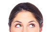 Beautiful young woman eyes portrait.