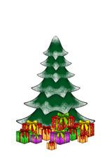 Weihnachtsbaum Geschenke