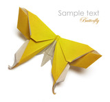 Yellow origami butterfly