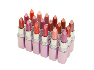 Lipstick in row
