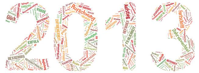 2013 als Stichwortliste und Tagcloud